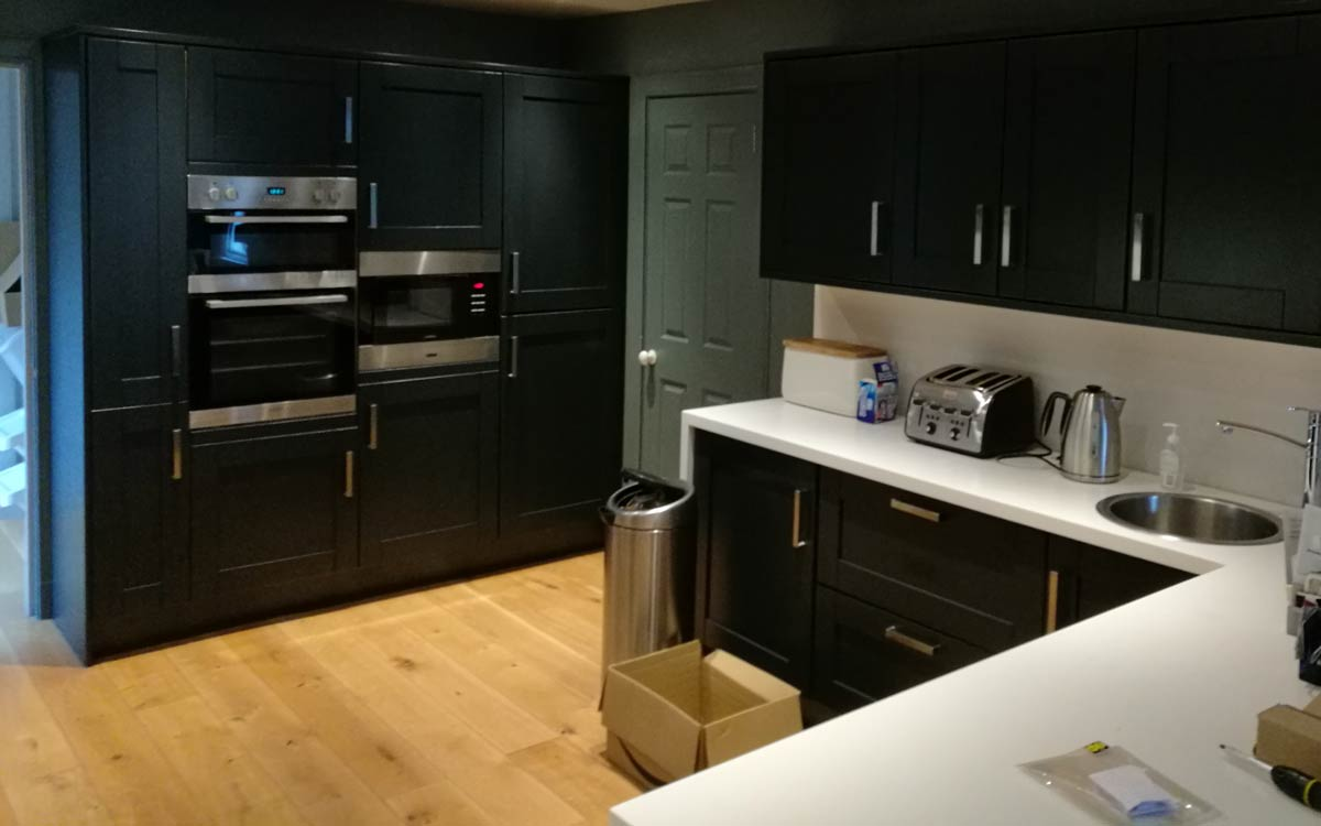 Farrow and Ball painted Kitchen Units and cabinets